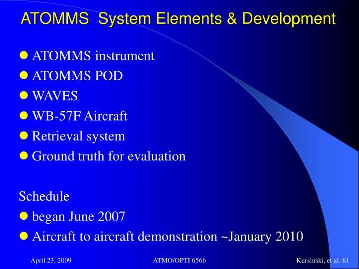 ATOMMS  System Elements & Development