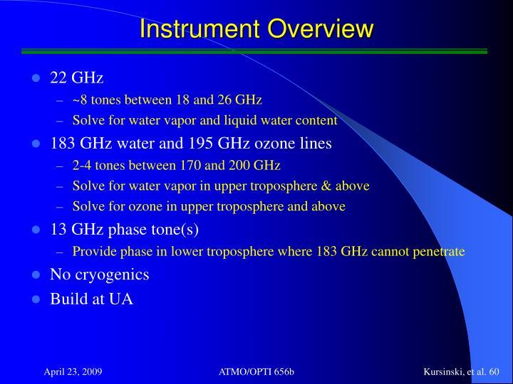 Instrument Overview
