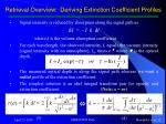retrieval overview deriving extinction coefficient profiles