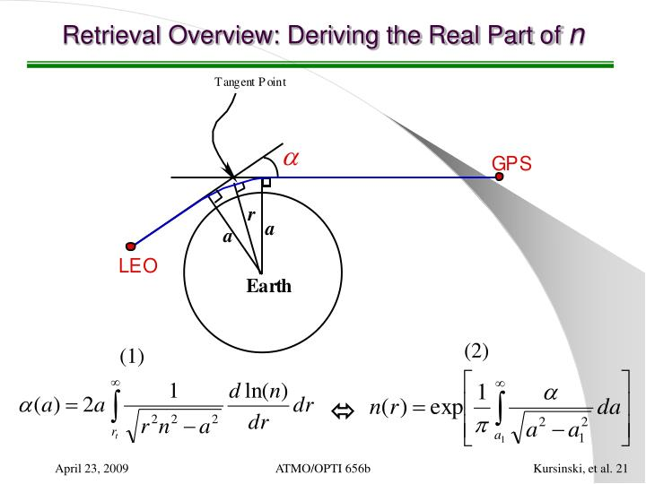 Retrieval Overview: Deriving the Real Part of