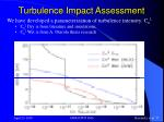 turbulence impact assessment