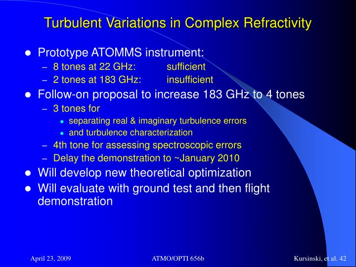 Turbulent Variations in Complex Refractivity