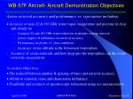wb 57f aircraft aircraft demonstration objectives