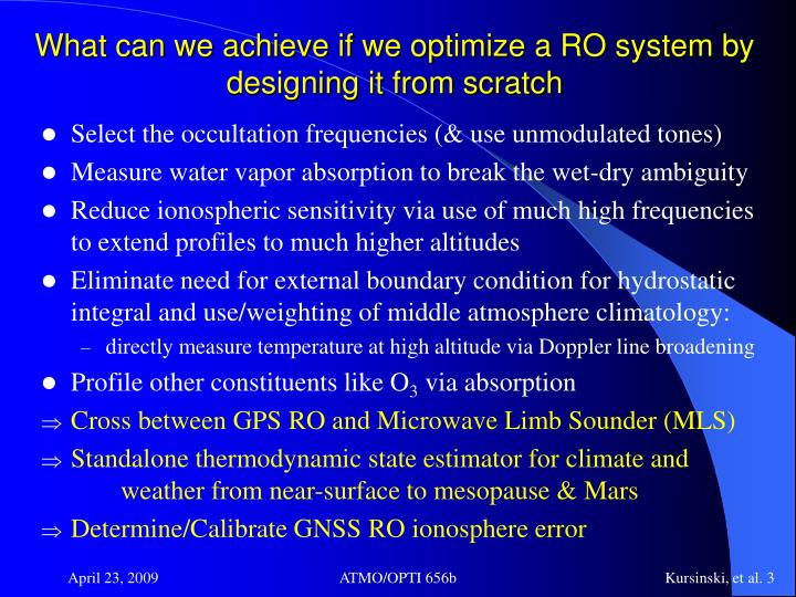 What can we achieve if we optimize a RO system by designing it from scratch