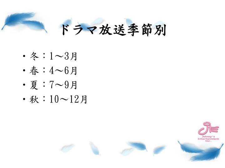 ドラマ放送季節別