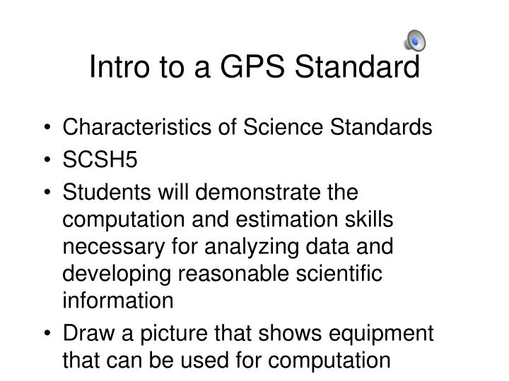 Intro to a gps standard