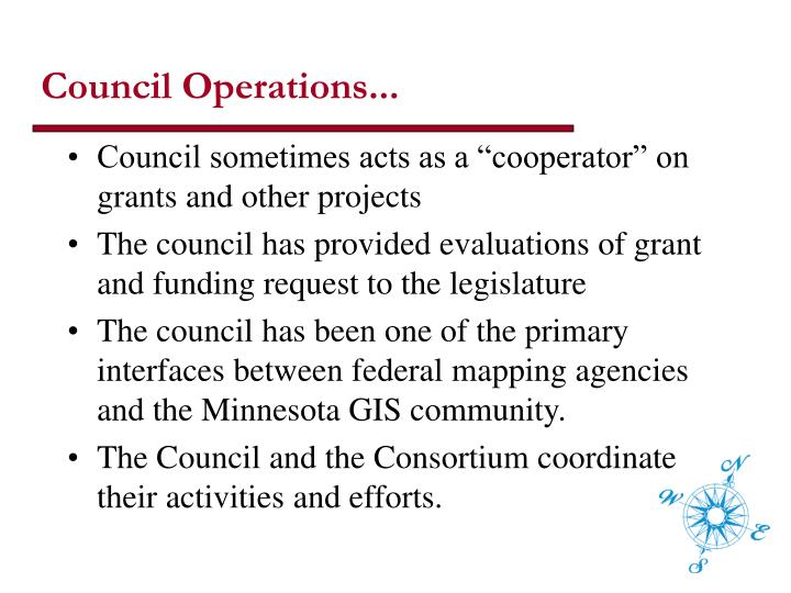 Council Operations...