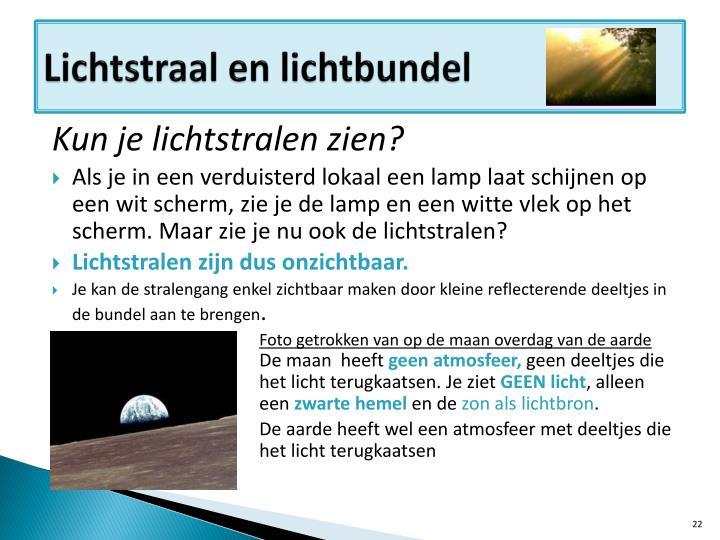 Lichtstraal en lichtbundel