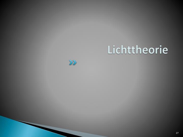 Lichttheorie