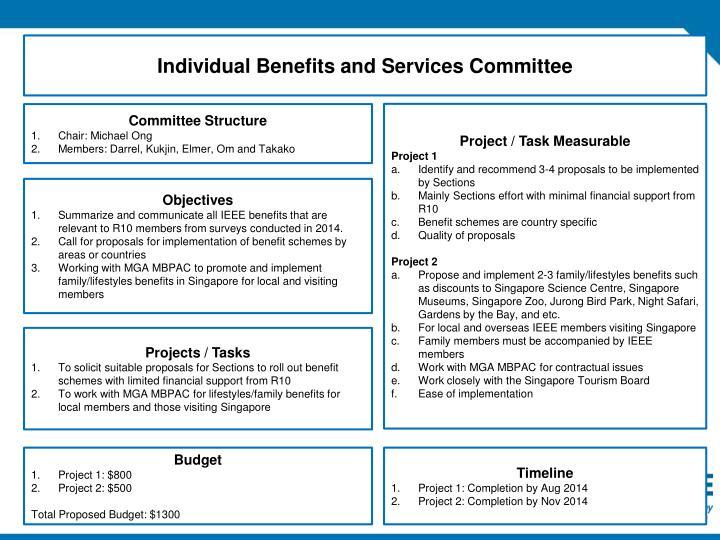 Individual Benefits and Services Committee