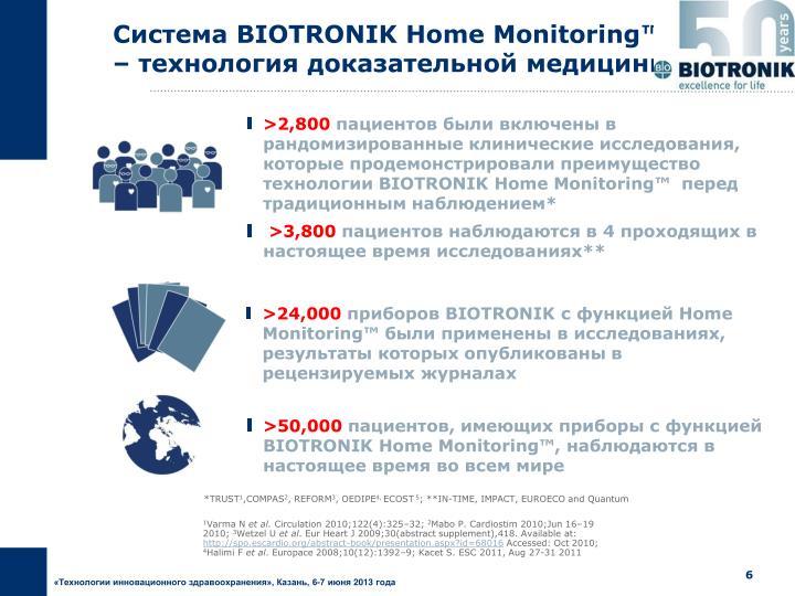 Система BIOTRONIK Home Monitoring™