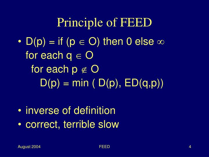 Principle of FEED
