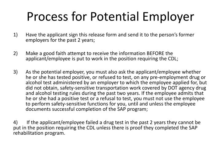 Process for Potential Employer