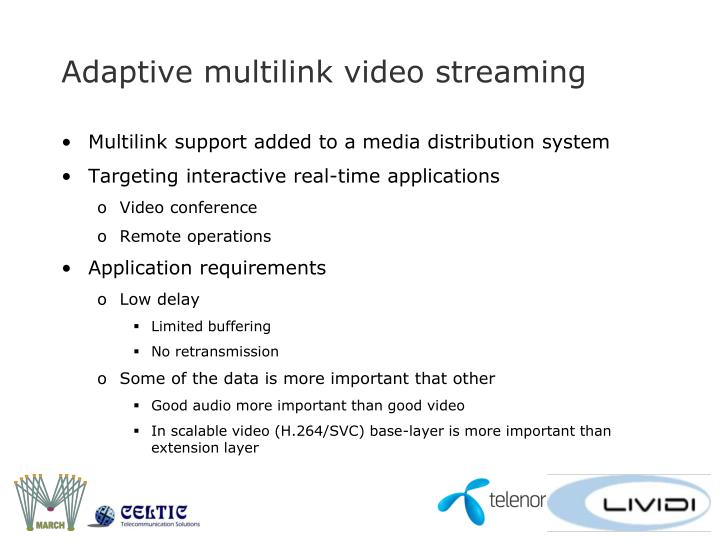 Adaptive multilink video streaming