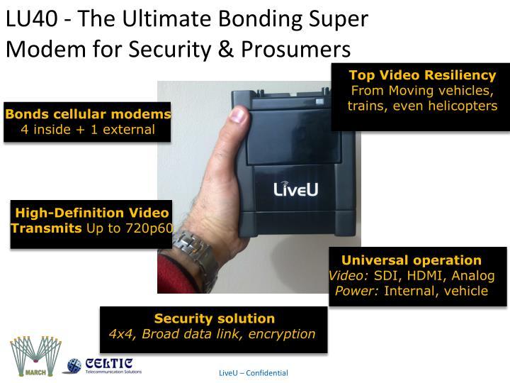 LU40 - The Ultimate Bonding Super