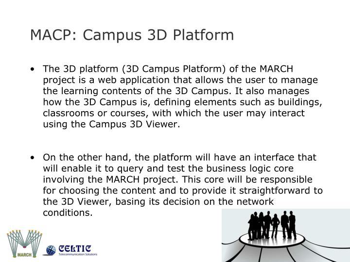 MACP: Campus 3D Platform