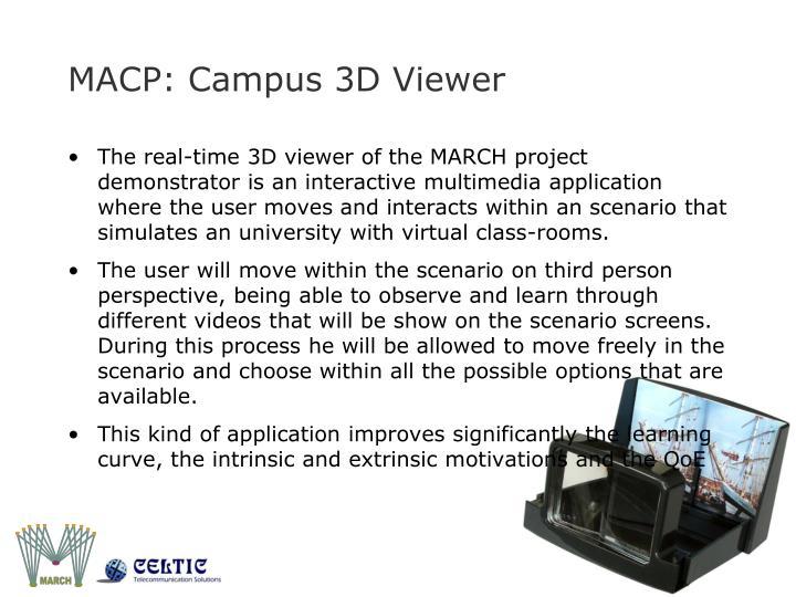 MACP: Campus 3D Viewer