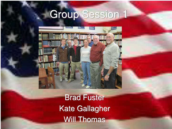 Group Session 1
