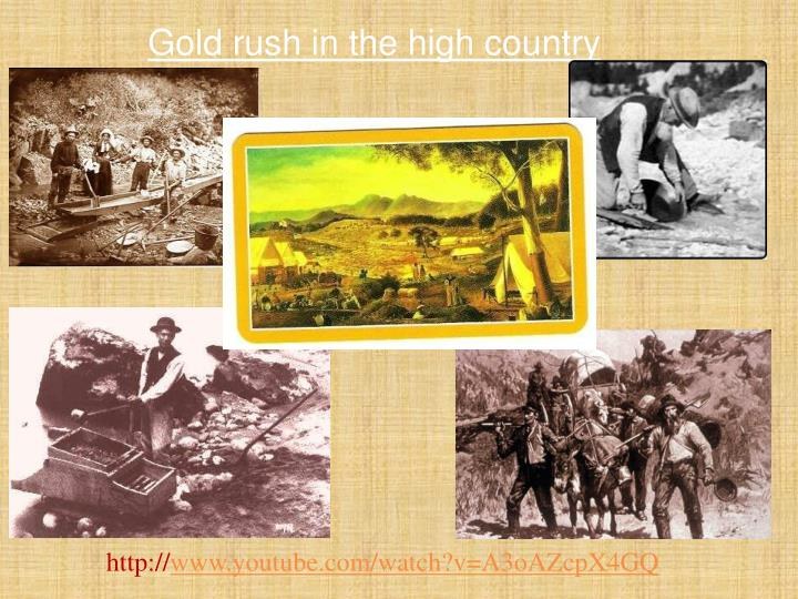 Gold rush in the high country