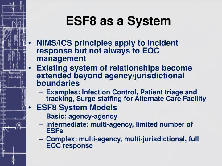 Esf8 as a system