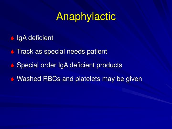 Anaphylactic