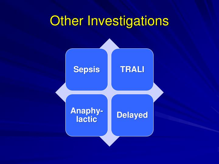 Other Investigations