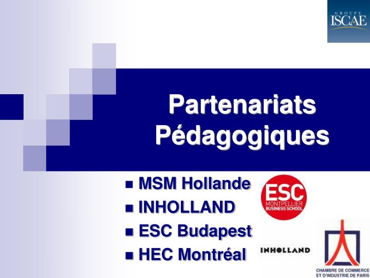 Partenariats Pédagogiques