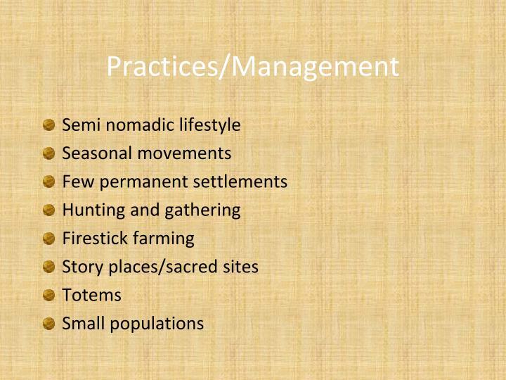 Practices/Management