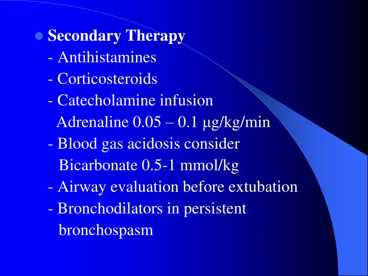 Secondary Therapy