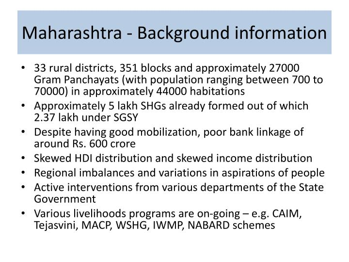 Maharashtra background information