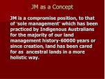 jm as a concept