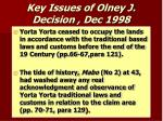 key issues of olney j decision dec 1998