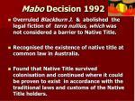 mabo decision 1992