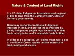 nature content of land rights