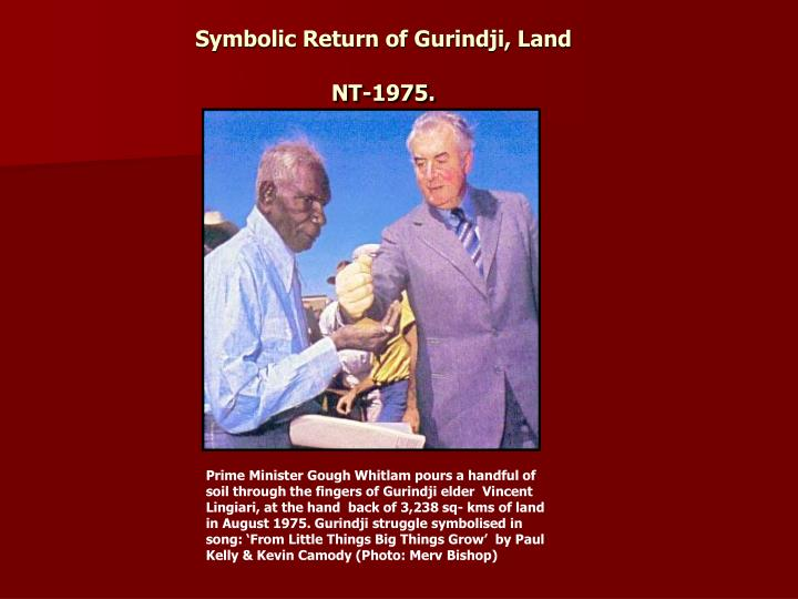 Symbolic Return of Gurindji, Land