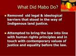 what did mabo do