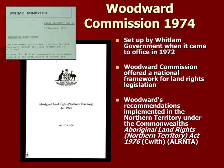 Woodward Commission 1974