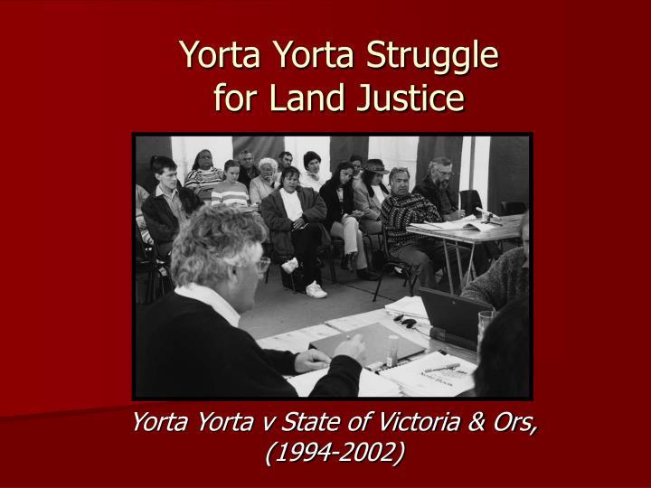 Yorta Yorta Struggle
