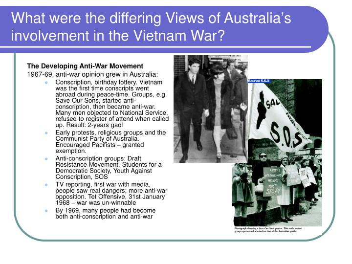 What were the differing Views of Australia's involvement in the Vietnam War?