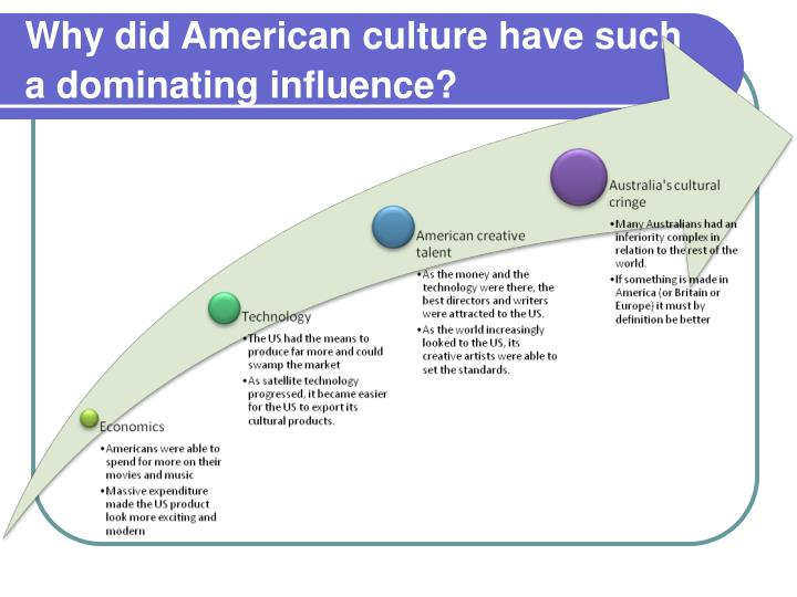 Why did American culture have such a dominating influence?