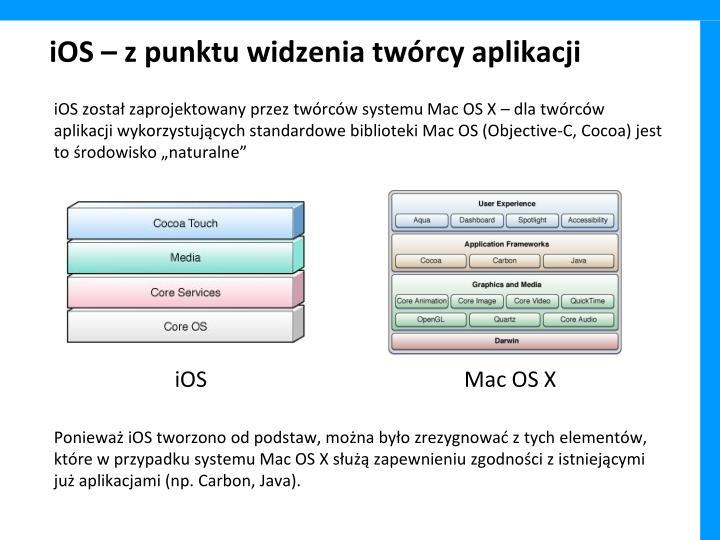 iOS – z punktu widzenia twórcy aplikacji