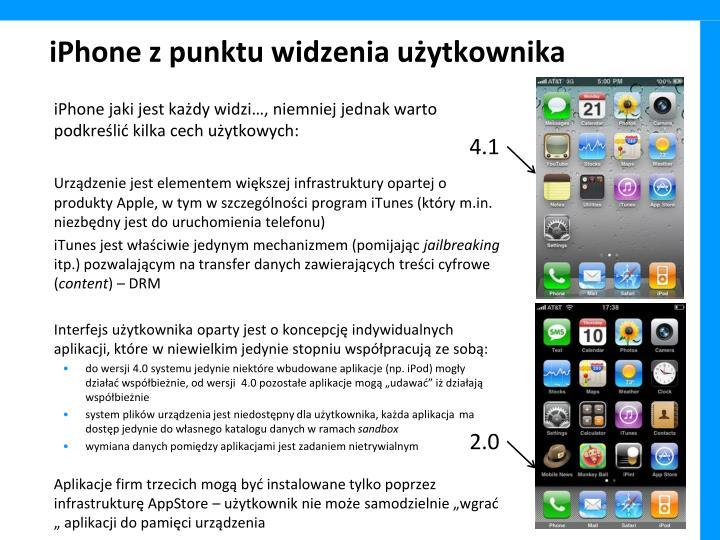 iPhone z punktu widzenia użytkownika