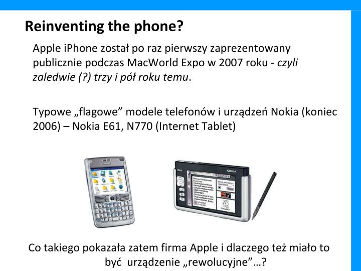 Reinventing the phone?