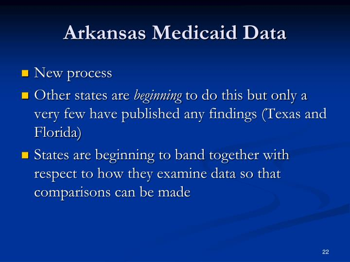 Arkansas Medicaid Data