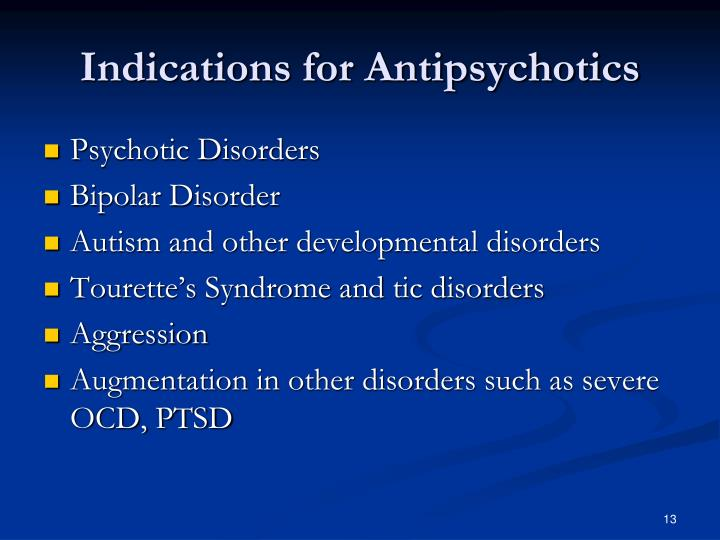 Indications for Antipsychotics