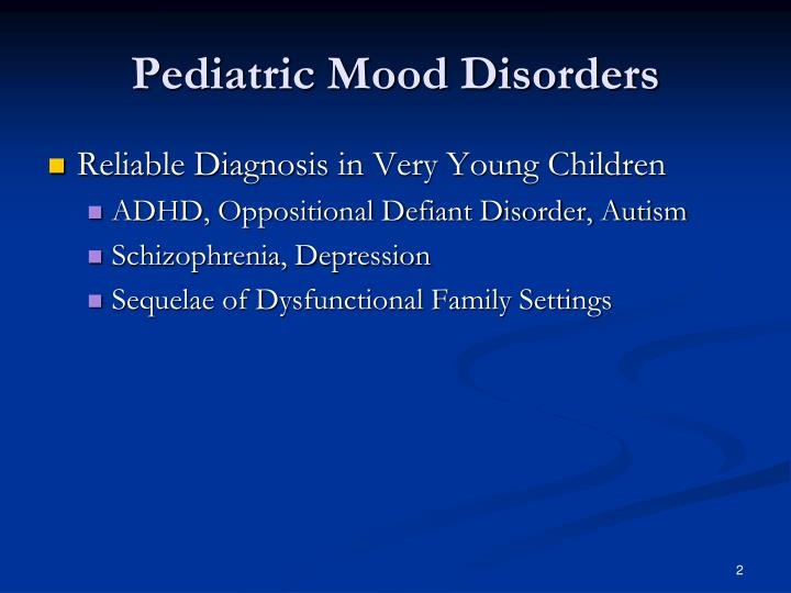 Pediatric mood disorders