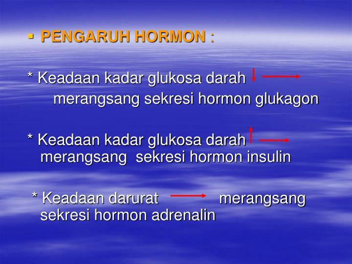 PENGARUH HORMON