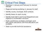 critical first steps