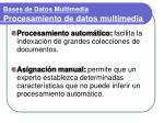bases de datos multimedia procesamiento de datos multimedia