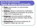bases de datos multimedia tipos de datos multimedia